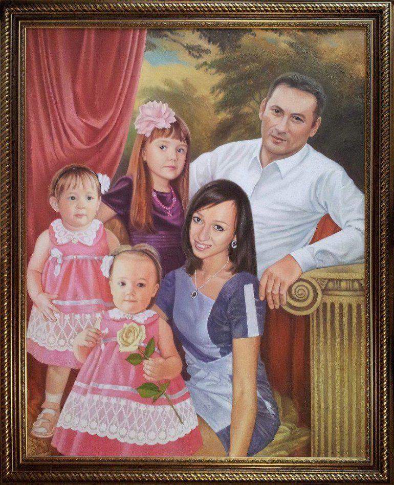 Семейный портрет маслом в Иваново — правильная традиция…
