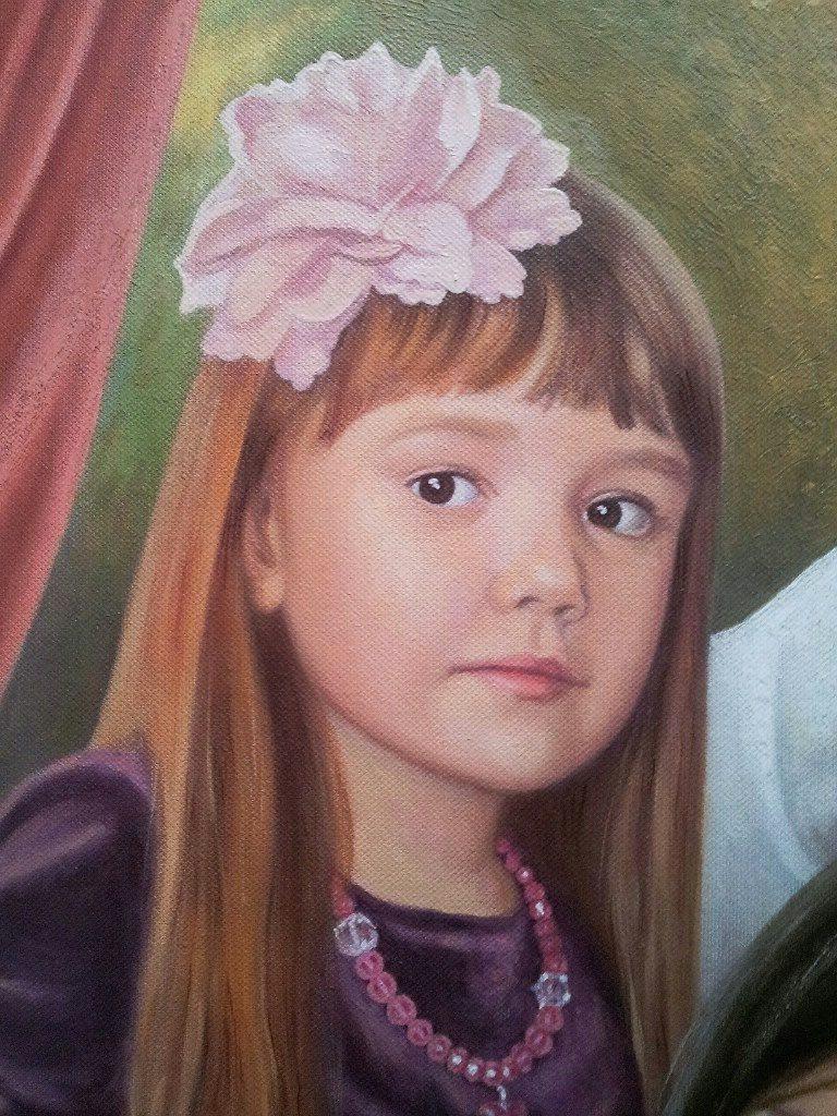 Семейный портрет на холсте Иваново