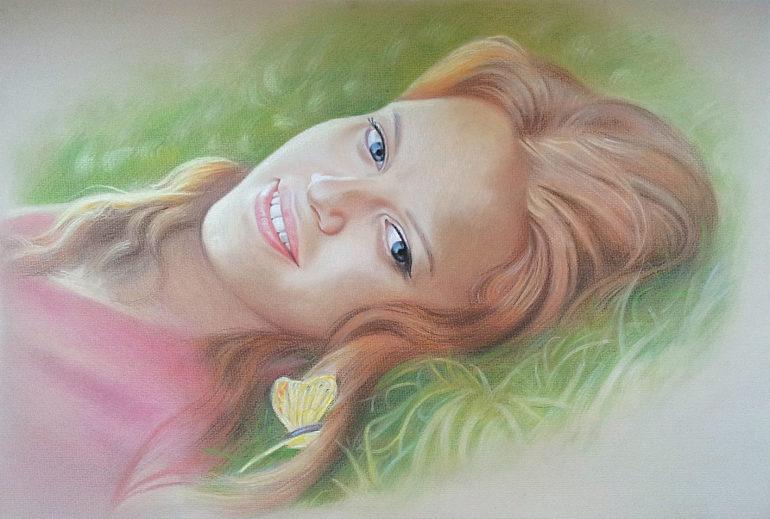 Настоящий портрет пастелью для любимой девушки в Иваново, просто и со вкусом!