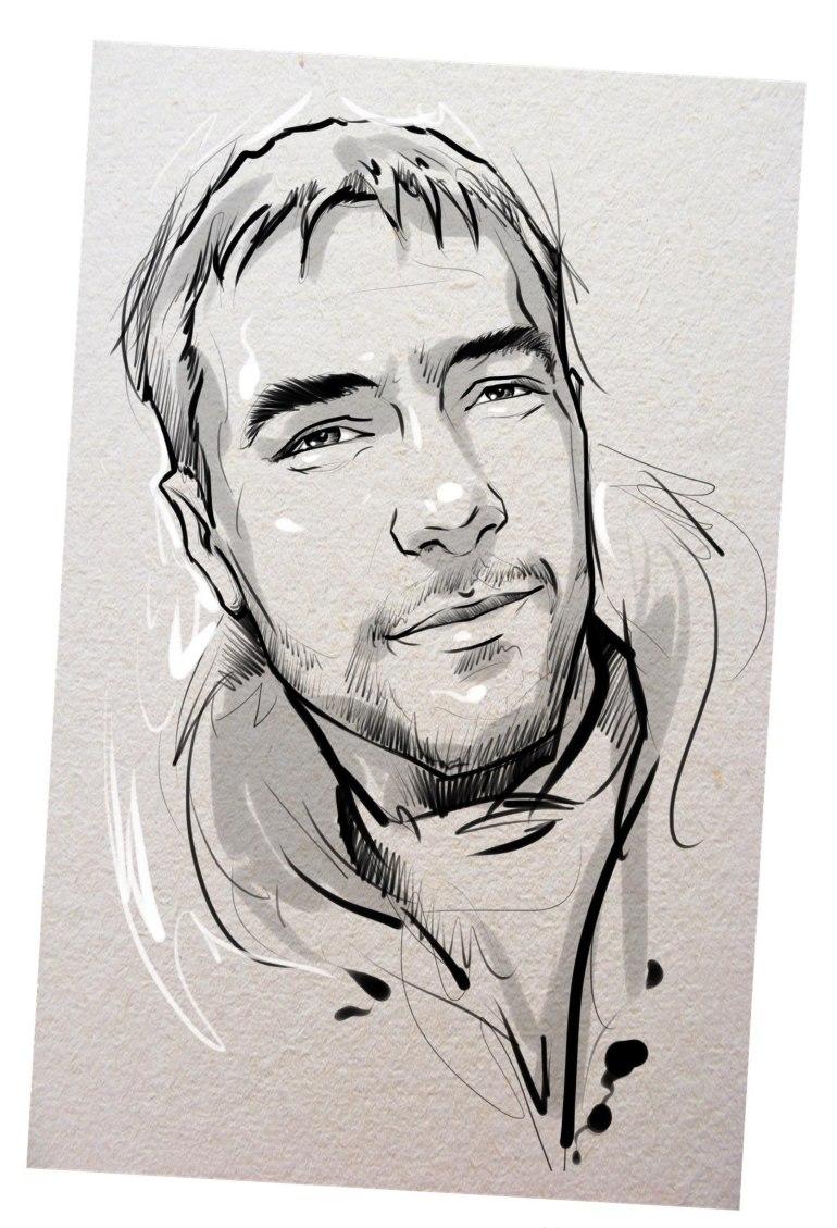 Портрет карандашом любимому мужу в Иваново…