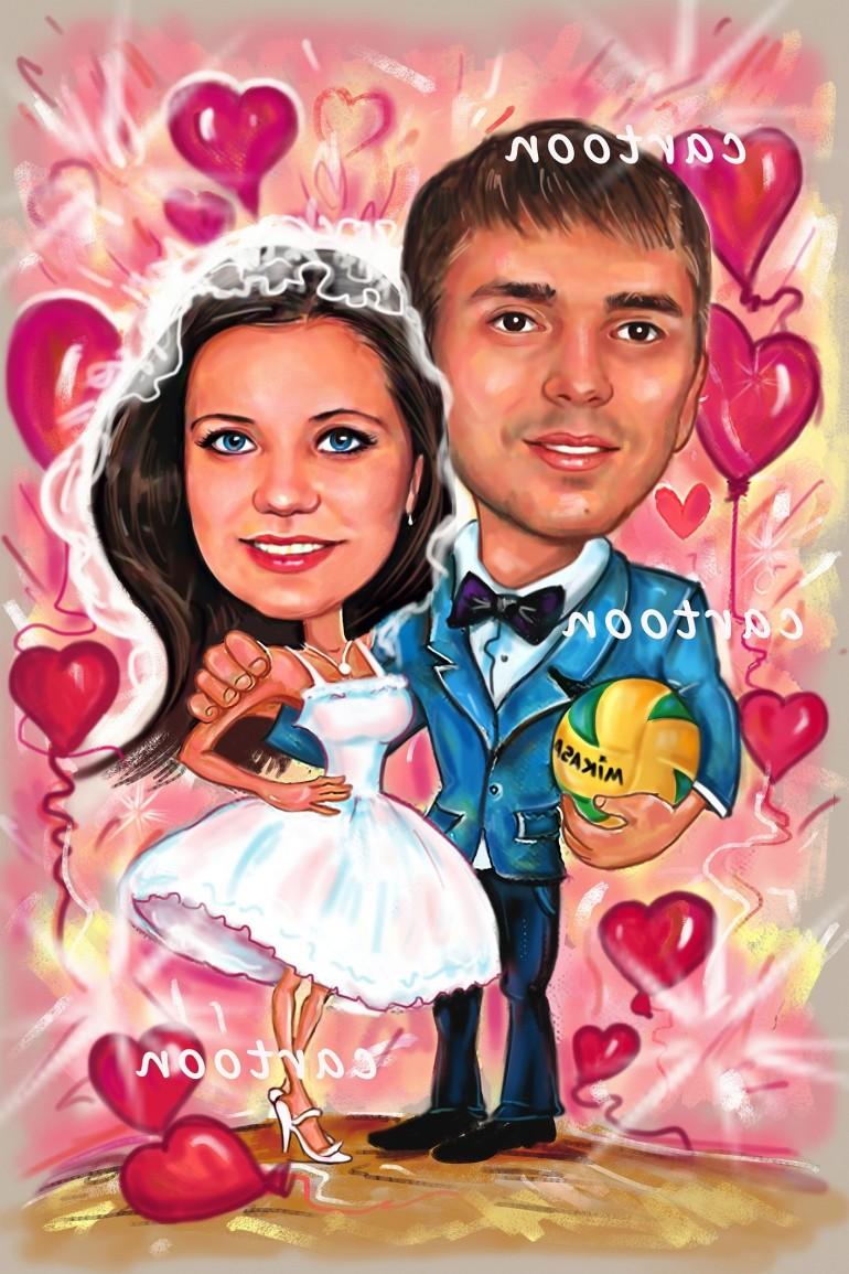 Свадебный шарж с оригинальным сюжетом в Иваново!