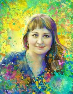 портрет по фото в подарок начальнице