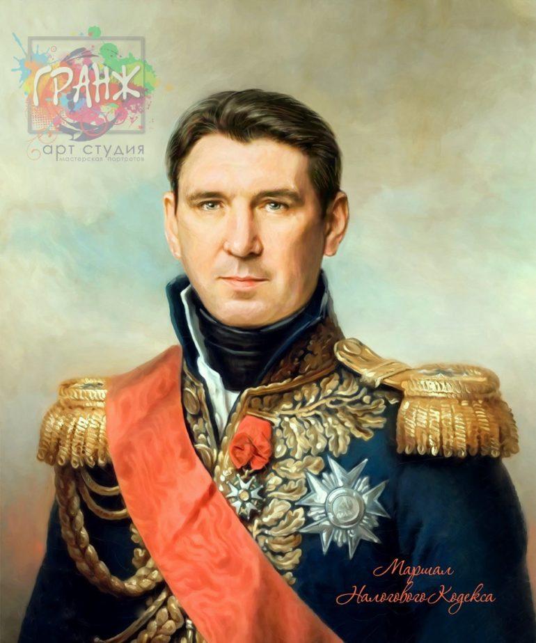 Портрет по фото на холсте в подарок мужчине на 23 февраля Иваново