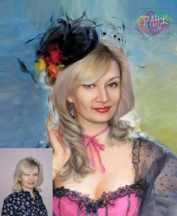 Заказать арт портрет по фото на холсте в Иваново…